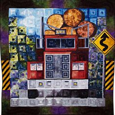 logging truck quilt | Janet Fogg - Quilt Artist and Teacher