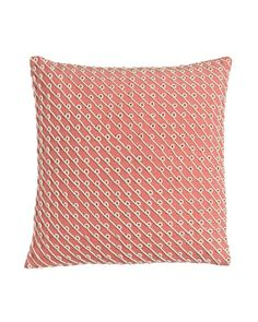 "Pillow with Rope Applique, 20""Sq."