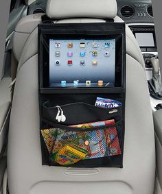 On the Road: Car Organization | sew something like this for adults on road trips.