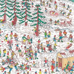 Congratulations to Greg Haworth, the winner of our original, one-off Where's Wally? illustration from Save the Children UK's Christmas. Where's Waldo Pictures, Wo Ist Walter, Ou Est Charlie, Wheres Wally, Picture Writing Prompts, Hidden Pictures, Hidden Objects, Right Brain, Christmas Activities