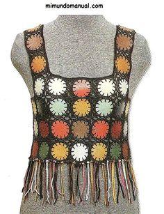 Blusas tejidas on Pinterest | Crochet, Crochet Tops and Crochet ...
