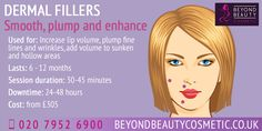 Dermal Fillers are an injectable form of non-surgical treatment which is available at Beyond Beauty Cosmetic - click the link to find out more information