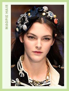Fashion Week Hair - Dolce & Gabbana | allure.com