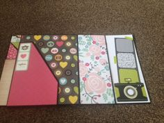 Kathy orta inspired foto folio, happy snaps paper by kaiser craft