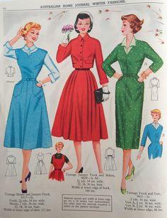 Australian Home Journal - 50's fashion