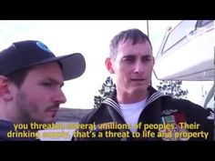 Kash Jackson at Standing Rock We are in Distress