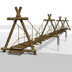 Pedestrian bridge. Can be used in ecological resor....