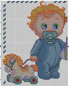 Cross Stich Patterns Free, Baby Knitting Patterns, Baby Patterns, Cross Stitching, Cross Stitch Embroidery, Hand Embroidery, Small Cross Stitch, Cross Stitch Baby, Plastic Canvas Patterns