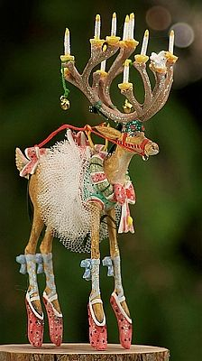 """PATIENCE BREWSTER'S KRINKLES Krinkles Dash Away Collection Dancer Ornament Dimensions: 6 1/2"""" Primary Material: Stone Resin"""