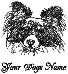 Personalized PAPILLION  Custom Embroiderd Dog Breed T-shirt / Youth M - Adult XL #HanesorPortCompany #ShortSleeveCrewneckTshirt