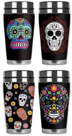 Mugzie Travel Mugs - Sugar Skulls