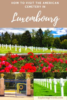 Luxembourg American Cemetery is the final resting place of Americans who died in the Battle of the Bulge. General Patton is buried here. #Luxembourg #WorldWarII Europe Destinations, Europe Travel Guide, Amazing Destinations, Travel Guides, European Travel, Euro Travel, American Cemetery, Europe Bucket List, Budget