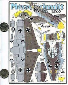 Resultado de imagen para Messerschmitt Me-109 paper