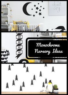 Get the Monochrome Nursery look. Interior design tips, stunning room examples and a shopping edit with everything you need.