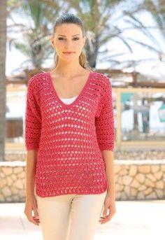 Crochet Jumper, Crochet Shawl, Knit Crochet, Crochet Tops, Crochet Fashion, Crochet Clothes, Pullover, Crochet Projects, Knitwear