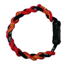 """6""""L Energy Bracelet in Black and Red Color by H-M Shop. $5.95. This black and red energy bracelet is designed to help improve a persons well being. It gives off positive energy and is good for sport performance."""