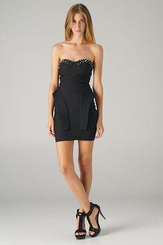 Spike Studs Top Peplum Dress
