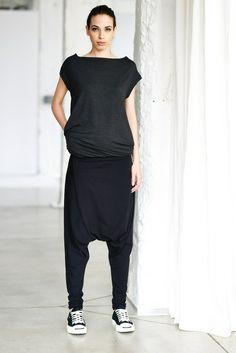 Drop Crotch Pants/ Harem Pants von arya yoga auf DaWanda.com