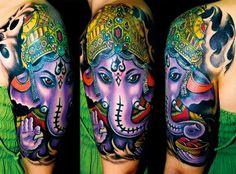As they say in Italian; Tatuaggio di Ganesha.