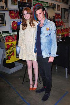 Doctor Who stars Karen Gillan and Matt Smith at DVD signing
