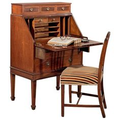 Factory Direct Selling Price Cabinets Edwardian Davonport Bureau Circa 1904 Edwardian (1901-1910)