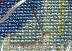 pin stitch; this will really clean up the back of your work and make confetti stitches a lot easier to deal with