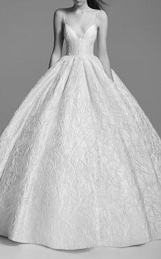 Alex Perry Bride Ashton Floral Brocade Gown