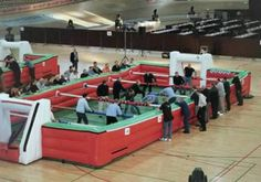 life-sized game: Fussball Table
