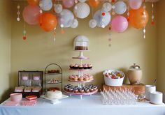 The Coolest Cheerful Pink and Orange Sweet Table Ever - Articles ...