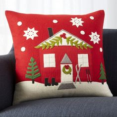 Shop Crate and Barrel to find everything you need to outfit your home. Christmas Applique, Christmas Sewing, Christmas Love, Christmas Crafts, Christmas Patchwork, Christmas Cushions, Christmas Pillow, Crate And Barrel, Diy Pillows