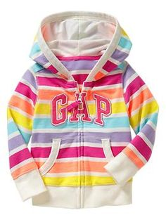 Rainbow striped arch logo hoodie for Laney <3