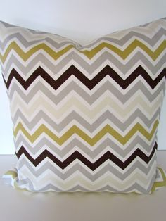 PILLOW COVERS CHEVRON 16x20 Decorative Throw Pillows Grey 16x20 missoni - Living Room