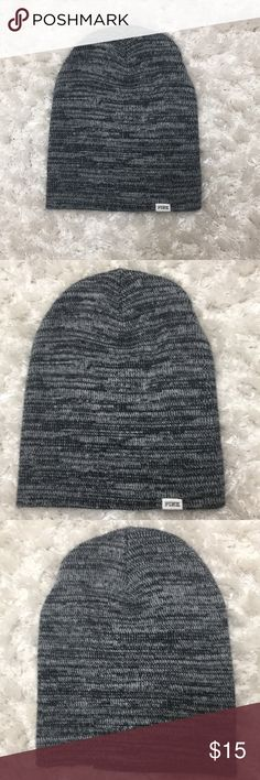 Pink Victoria's Secret Beanie Grey marbled beanie   Worn a few times and washed   Has some fuzz on, but in great condition PINK Accessories Hats