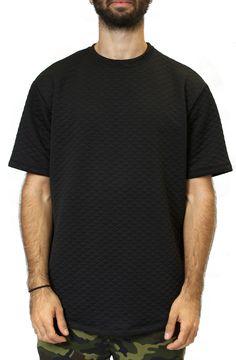 Quilt Long Tee in Black – Fashion X Freedom