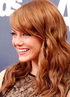 Copper Hair Color of  Emma Stone 2016