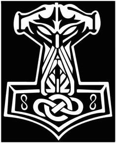 In Odin We Trust Thor Vikings Hammer Norse vinyl die cut sticker decal Thor Hammer Tattoo, Thor Tattoo, Norse Tattoo, Celtic Tattoos, Viking Tattoos, Celtic Patterns, Celtic Designs, Viking Culture, Norse Mythology