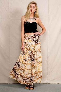 Urban Renewal Bleached Maxi Skirt