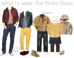 Gallery For > Fall Family Photo Shoot Outfit Ideas