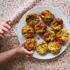 mini pea & pesto frittatas