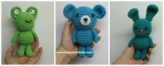 Wee Bear Frog and Bunny ~ Amigurumi To Go