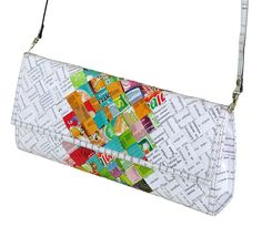 Check out this item in my Etsy shop https://www.etsy.com/uk/listing/536503439/clutch-purse-candy-wrappers-free