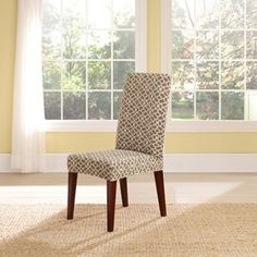 Sure Fit Stretch Ironworks Dining Room Chair Slipcover, CHECK MEASUREMENTS!
