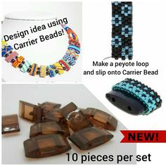 CARRIER BEADS in a dark topaz color. The fast and easy way to
