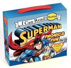 """The Superman Classic: Superman Phonics Fun is not like what I have found with Biscuit Phonics Fun or My Little Pony Phonics Fun, these are more advanced. Longer words and a mixture of phonics rules even in a specific book. Example such as in a """"short e"""" reader there is a mixture of """"long e"""" and """"silent e"""" in the words to read rather in comparison to how some Bob Books with have the text of the """"short e"""", but throw in images of """"long e"""" for discussion etc. @HarperCollins Children's"""
