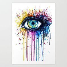 """Rainbow Eye"" Art Print by PeeGeeArts"