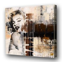 Beautiful Large  Figure Oil Painting Art Marilyn Monroe On Canvas Wall For Home Decoration No Framed