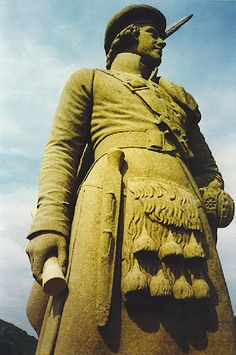 Bonnie Prince Charlie on top of the Glenfinnan Monument, Scotland (who spoke no Gaelic and broken English)