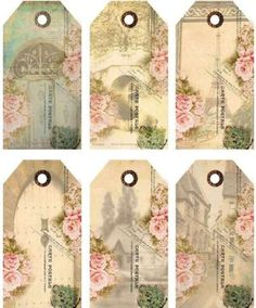12 Hang Gift Tags Cottage Chic Paris Images 912 aShabby Vintage Archives - Home Style CornerOther Scrapbooking SuppliesAntique White Shabby Chic Wood Dresser w/ Rosebuds Product SKU: - Home Style Corner Vintage Tags, Shabby Vintage, Vintage Crafts, Vintage Labels, Vintage Ephemera, Vintage Paper, Vintage Postcards, Funny Postcards, Shabby Chic