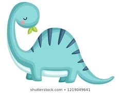 a blue brachiosaurus looking behind his back Cute Dinosaur, Dinosaur Party, Dinosaur Birthday, Die Dinos Baby, Baby Dinosaurs, Cute Images, Cute Pictures, Kids Punch, Jungle Decorations