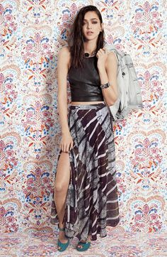 ASTR Crop Top & Maxi Skirt  available at #Nordstrom